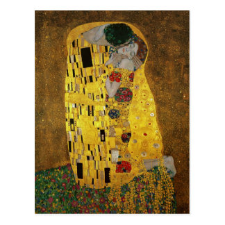 Gustavo Klimt el beso Postales