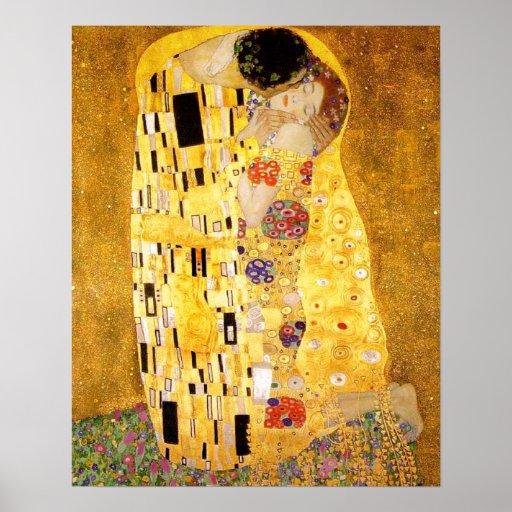 Gustavo Klimt el beso Poster