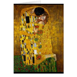 Gustavo Klimt - el beso Tarjeta De Felicitación