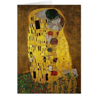 Gustavo Klimt el beso Tarjeta De Felicitación