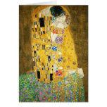 Gustavo Klimt el beso Tarjeta Pequeña