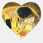 Gustavo Klimt - el corazón Stiker del beso Pegatinas Corazon Personalizadas