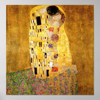Gustavo Klimt el poster del beso