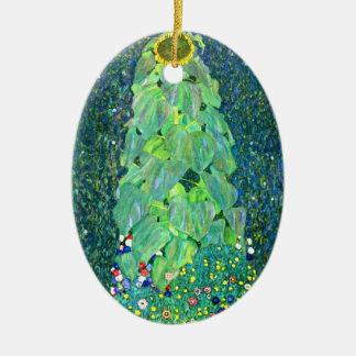 Gustavo Klimt: Girasol Adorno Navideño Ovalado De Cerámica