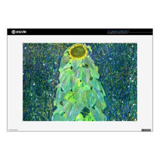 Gustavo Klimt: Girasol Calcomanías Para Portátiles