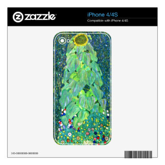 Gustavo Klimt: Girasol Calcomanía Para iPhone 4