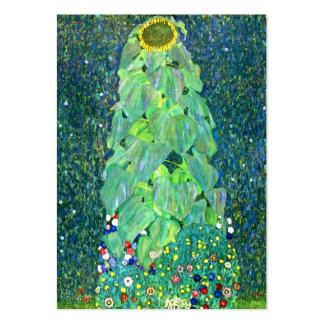 Gustavo Klimt: Girasol Tarjetas De Visita Grandes