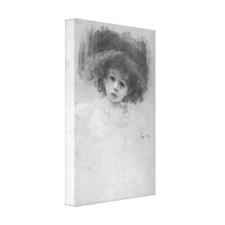 Gustavo Klimt - imagen del pecho de un niño Impresión En Lona