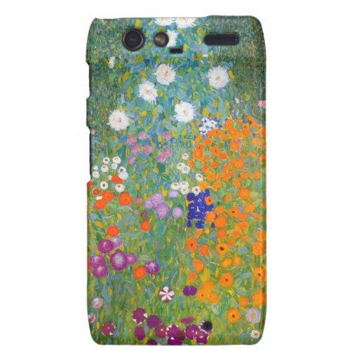 Gustavo Klimt: Jardín de flores Droid RAZR Funda