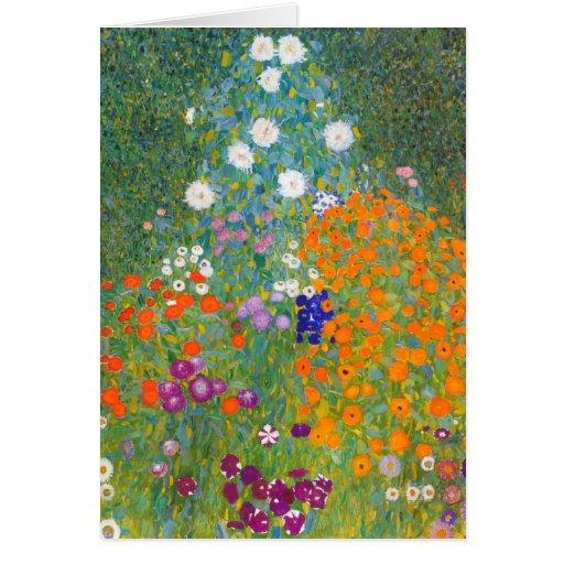 Gustavo Klimt: Jardín de flores Felicitaciones