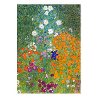 Gustavo Klimt: Jardín de flores Tarjetas De Visita Grandes