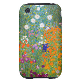 Gustavo Klimt: Jardín de flores Tough iPhone 3 Fundas