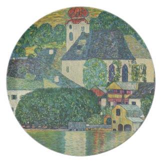 Gustavo Klimt //Kirche en Unterach Attersee Plato Para Fiesta