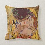 Gustavo Klimt la almohada de tiro del vintage del