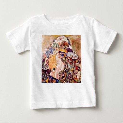 Gustavo Klimt - la cuna del bebé - recién nacido Playera De Bebé