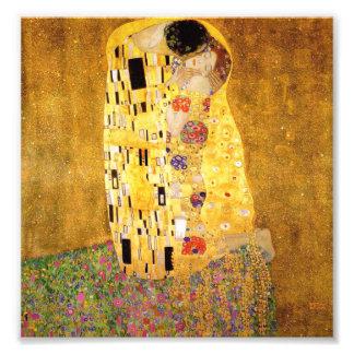 Gustavo Klimt la impresión del beso Impresión Fotográfica