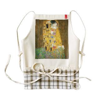 Gustavo Klimt la pintura de Nouveau del arte del Delantal Zazzle HEART