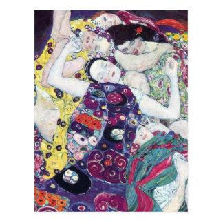 Gustavo Klimt la postal de la Virgen