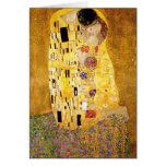 Gustavo Klimt la tarjeta de felicitación del beso