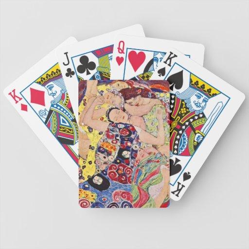Gustavo Klimt las doncellas Barajas De Cartas