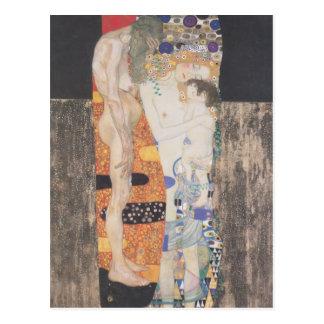 Gustavo Klimt- las tres edades de la mujer Postales
