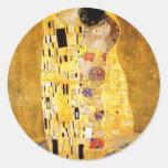 Gustavo Klimt los pegatinas del beso