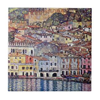 Gustavo Klimt - Malcesine en el lago Garda Tejas