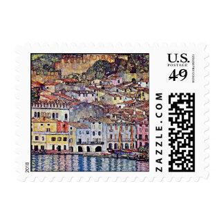 Gustavo Klimt - Malcesine en el lago Garda Italia Sellos Postales