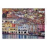 Gustavo Klimt - Malcesine en el lago Garda Tarjeta De Felicitación