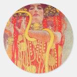 Gustavo Klimt - Medizin Etiqueta Redonda