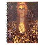 Gustavo Klimt Minerva Pallas Athena Libreta Espiral