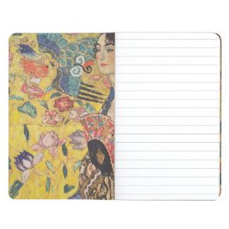 Gustavo Klimt - mujer con la fan Cuadernos Grapados