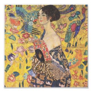Gustavo Klimt - mujer con la fan Fotografía