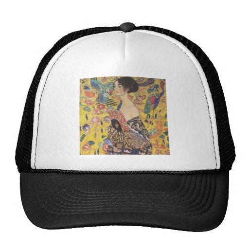 Gustavo Klimt - mujer con la fan Gorra