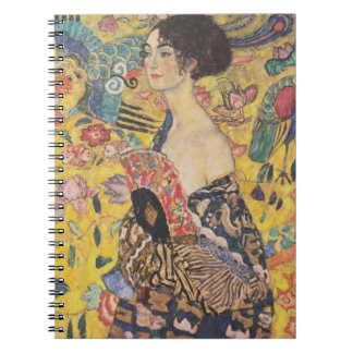 Gustavo Klimt - mujer con la fan Cuaderno