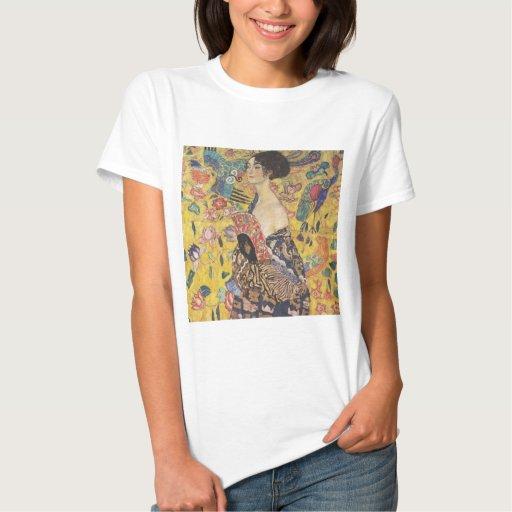 Gustavo Klimt - mujer con la fan Remeras