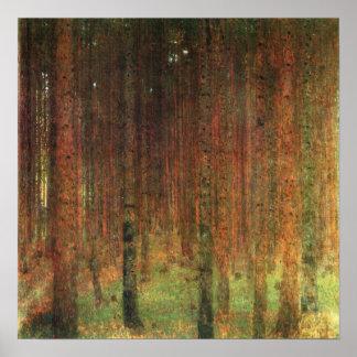 Gustavo Klimt - poster del paisaje del bosque II d