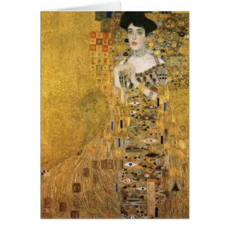 Gustavo Klimt - retrato del bloque Bauer de Adela Tarjeta De Felicitación