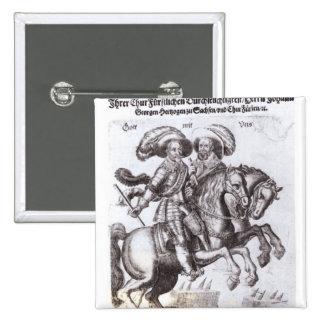 Gustavus Adolphus II  and Gustavus Adolphus IV 2 Inch Square Button