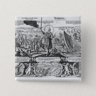 Gustavus Adolphus landing at Stralsund in 1630 Button