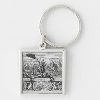 Gustavus Adolphus landing at Stralsund in 1630 Keychain