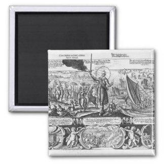 Gustavus Adolphus landing at Stralsund in 1630 Magnet