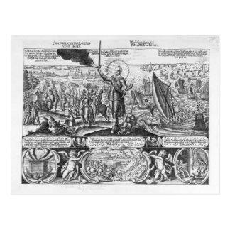 Gustavus Adolphus landing at Stralsund in 1630 Postcard