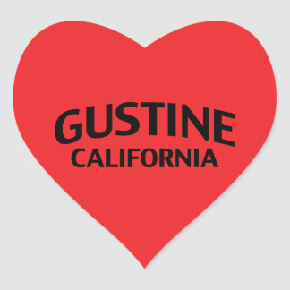 Gustine California Pegatina En Forma De Corazón