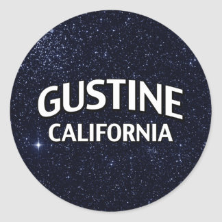 Gustine California Pegatina Redonda