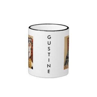 Gustine - pastor australiano taza de dos colores