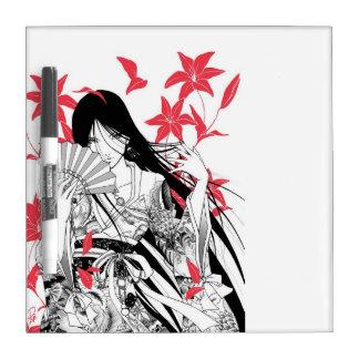 Gusting Wind Geisha Dry Erase Noteboard Dry-Erase Board
