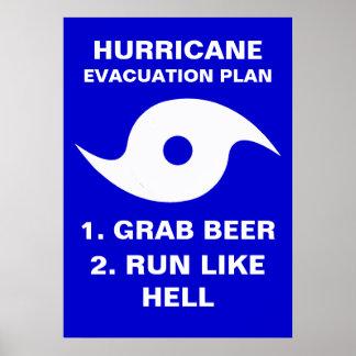 Gusto corrido de la cerveza 2. del gancho agarrado póster