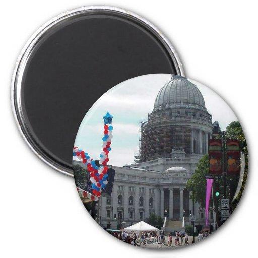 Gusto de la muchedumbre de la capital de Madison Imán Para Frigorifico