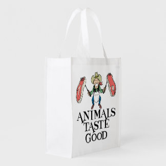 Gusto de los animales bueno bolsa reutilizable